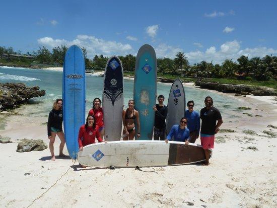 Christ Church Parish, Barbados: Boosy's surf school graduates