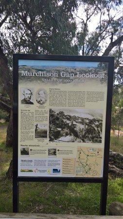 Reedy Creek, Australia: Display board with details