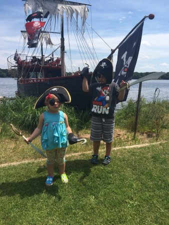 Eagle River, WI: kids loved the Pirate accessories -purchased at a discount price when we booked online