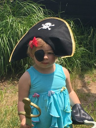 Eagle River, WI: 2 yr old followed big bros example of being a pirate