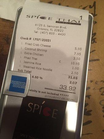 Spice Thai Restaurant Orlando
