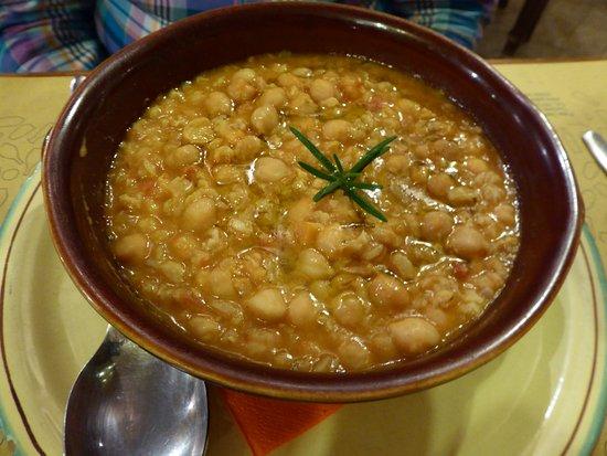 Taverna Pane e Vino: Ceci (chick-pea) soup