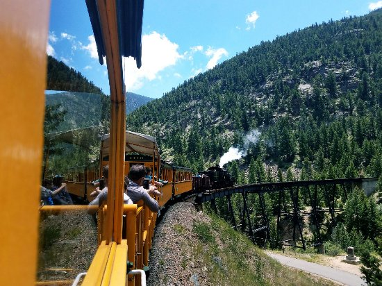 Georgetown, CO: The train whistle and the puff of smoke add to the experience!