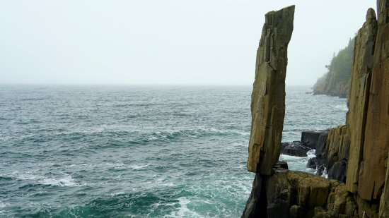 Tiverton, Canadá: Foggy day at the Rock