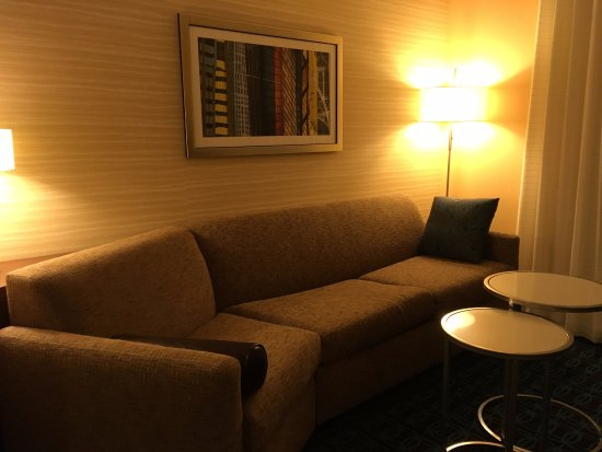 Fairfield Inn U0026 Suites Jackson: The Very Comfortable Settee In The Living  Room Section.