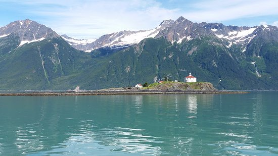 Haines, AK: Eldred Rock on a calm day.  What a treat!