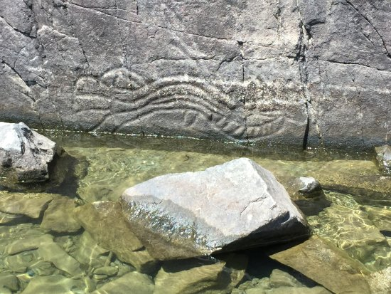 Port Alberni, Canada: Just one portion of the petroglyphs.