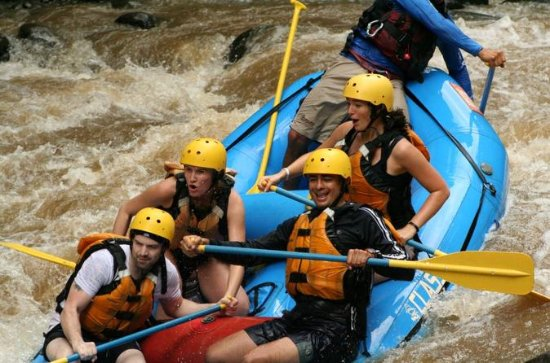 Best combination :Rafting level III with canopy zip lines and...
