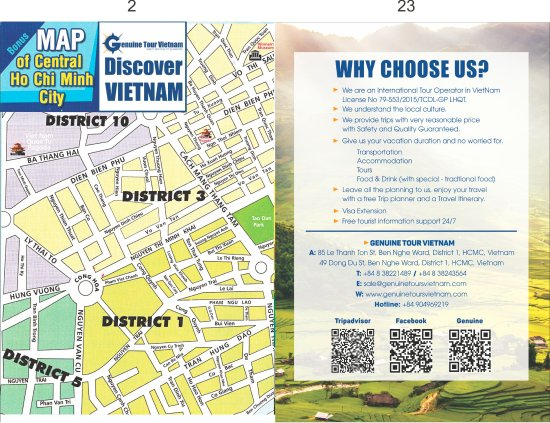 HCMC Map and contact - Picture of Genuine Tour Vietnam, Ho