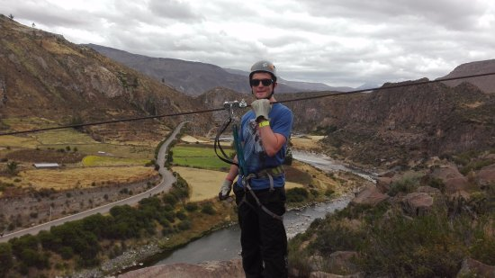 Chivay, Perù: EXPERIENCE THE EXTREME ADVENTURE IN THE COLCA CANYON OVER THE COLCA RIVER AND THE AMAZING LANDSC