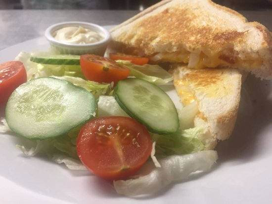 Dumfries and Galloway, UK: Cheese & onion toastie from our lunch menu