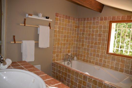 Lirac, Francia: salle de bain chambre d'hôtes la petite sardine