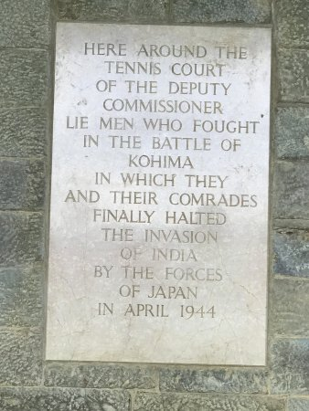 Tennis Court At The Memorial Picture Of Kohima War Cemetery