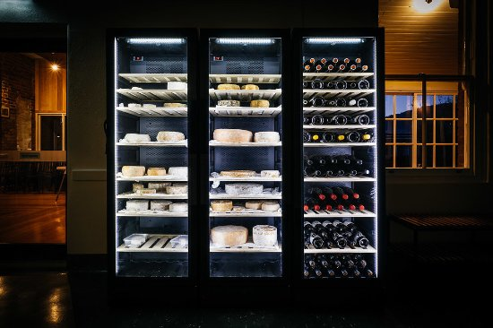 New Norfolk, Australien: Our VINTEC fridges storing wine and our housemade cheeses