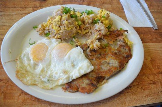 Hawaiian Style Cafe : Eggs with Kailua hash