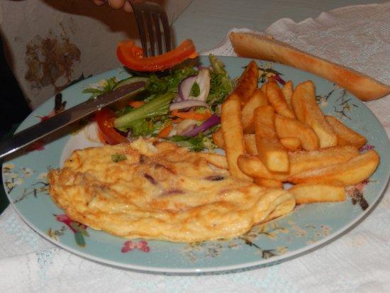 Mrs Burton's Restaurant and Tea Room: Une omelette maison