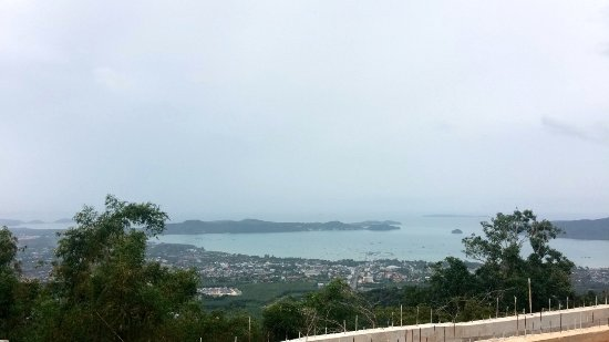 Chalong, Thailand: View from front of Buddah