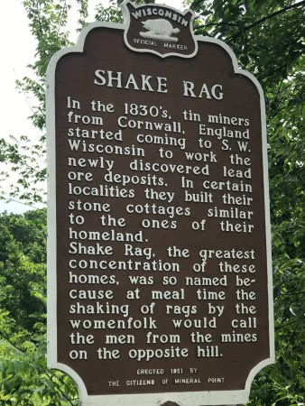 Mineral Point, WI: Shaking a rag was a signal for men to come home for a meal