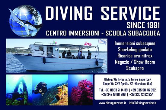 Torre Vado, Italie : Diving Service, what else?