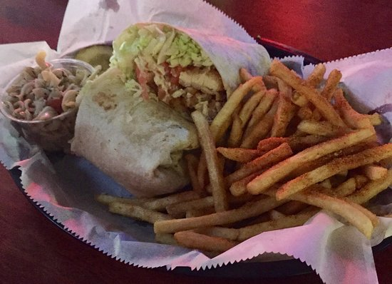 Hops & Barleys: The Chicken Tornado Wrap and Seasoned Fries