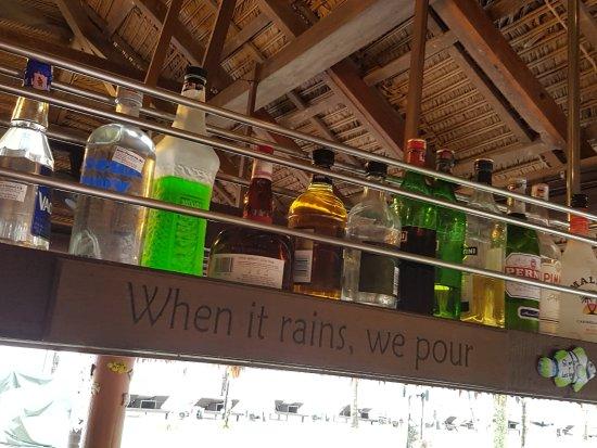 La Sal at Casa Del Mar: Great bar shelf!