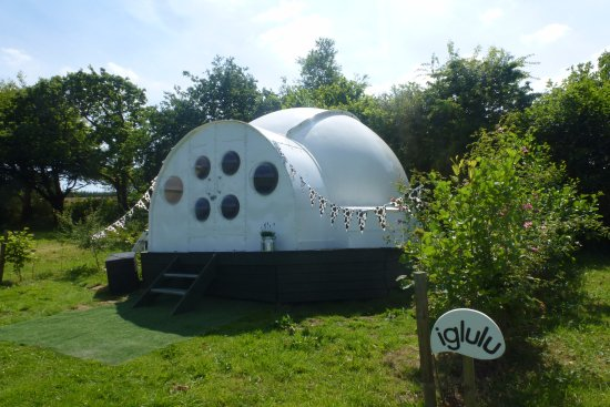 Northlew, UK: Our brand new unique igloo, sleeps up to four