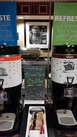 Seymour, IN: Morning coffee.
