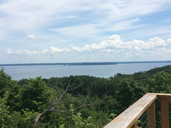 Suttons Bay, MI: View from the deck