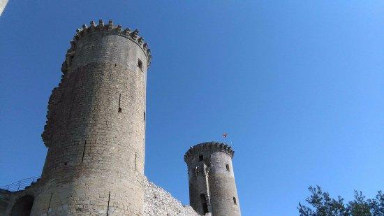 Chateaurenard, France: Proche d'une statue à l'arrière du château.