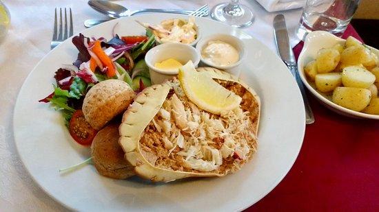 The Riverside Restaurant: Crab Salad at The Riverside