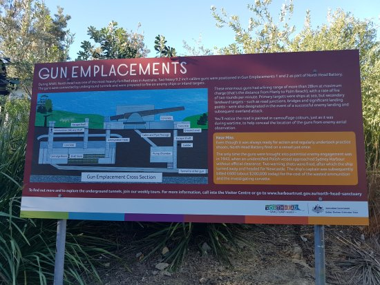 North Head Sanctuary: North Fort Gun Emplacements sign