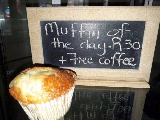 Centurion, Sudafrica: Mufin + FREE Coffee
