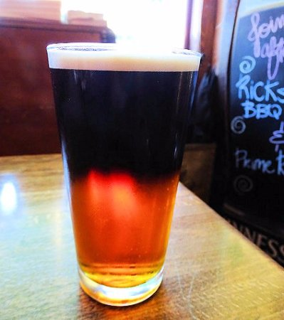 Landrum, SC: perfectly poured black & tan