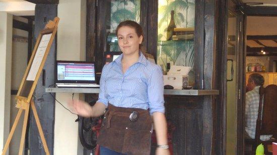 Tenterden, UK: Rachel - our excellent waitress.