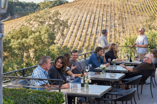 Templeton, CA: Enjoy wine and food on our patio