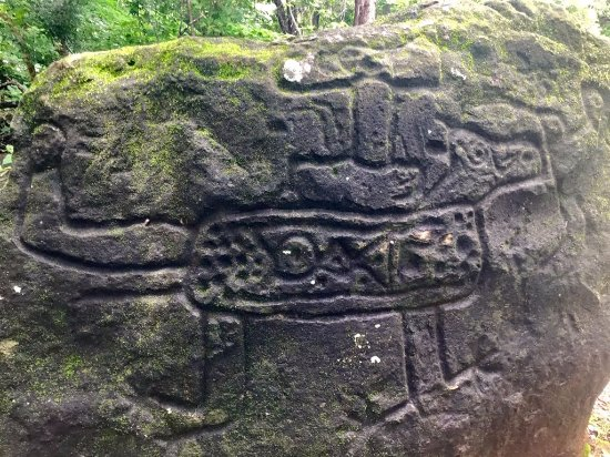 La Cruz, Costa Rica: petroglyph visit on mountain bike, and the bike house logo idea