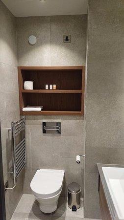 Ten Square: Towel radiator location.