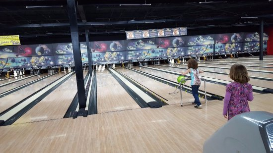 using bumpers and a ramp to bowl - kid friendly