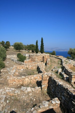 It is located in eastern Attica in the area of Marathon. is one of the best preserved sites