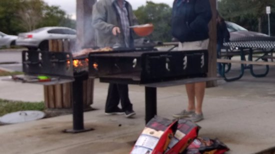 Harbor Heights Park: Two BBQ grills. By Chato Stewart