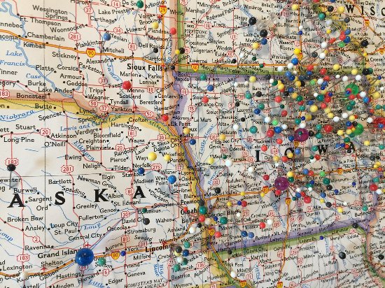 Clear Lake, IA: Pin your hometown on their large map!
