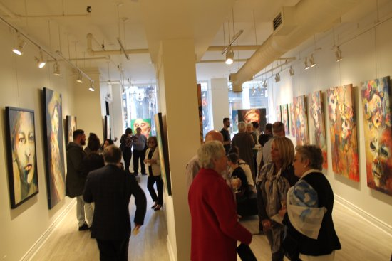 Galerie d'art Blanche: Opening night of Danielle Scheffer's Exhibition in April 2017 at Galerie Blanche Montreal