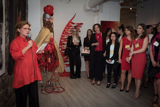 Galerie d'art Blanche : Fund raising for Montreal Heart Desease Fundation at Galerie Blanche Montreal in 2016