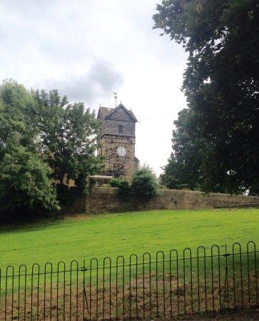 Rare wooden bell-tower at St Leonard's Church, Middleton.