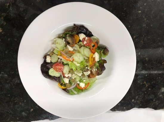 Baci Cafe & Wine Bar : Greek Salad created from local produce from Alexander Valley
