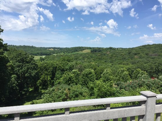 Dubuque, IA: You can see the Iowa countryside for miles from the expansive patio.