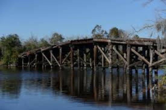 Bridge City, TX: Old Bridge near launch