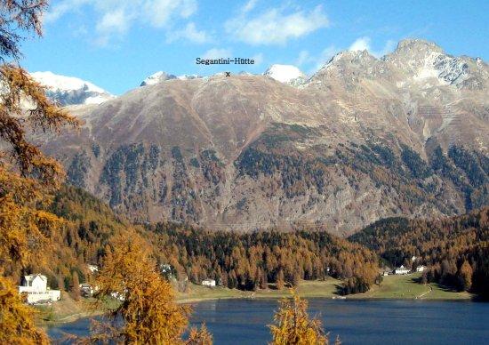 Pontresina, Schweiz: Schafberg mit Segantini Hütte