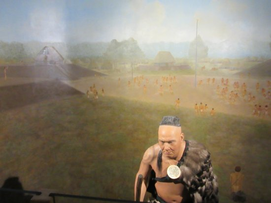 University Of South Alabama Archaeology Museum Chief A Mississippian Group Depicted In Display