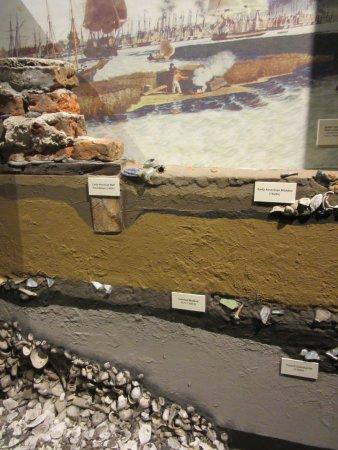 exhibit explaining cultural deposits